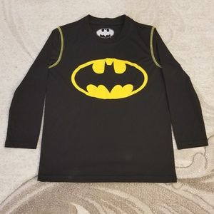 Long Sleeve Athletic Tee, Batman, M Boy